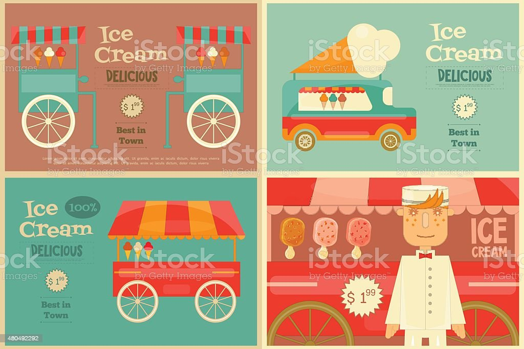 Ice Cream Poster vector art illustration