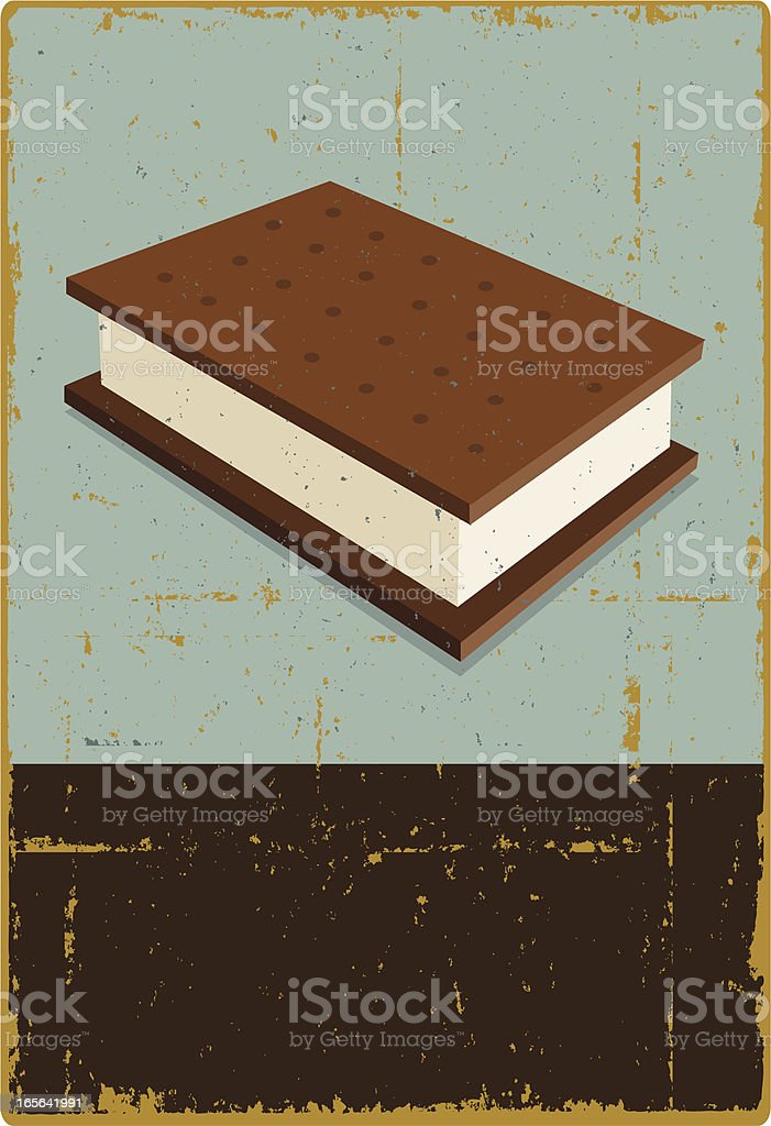 Ice Cream Sandwich Sign vector art illustration