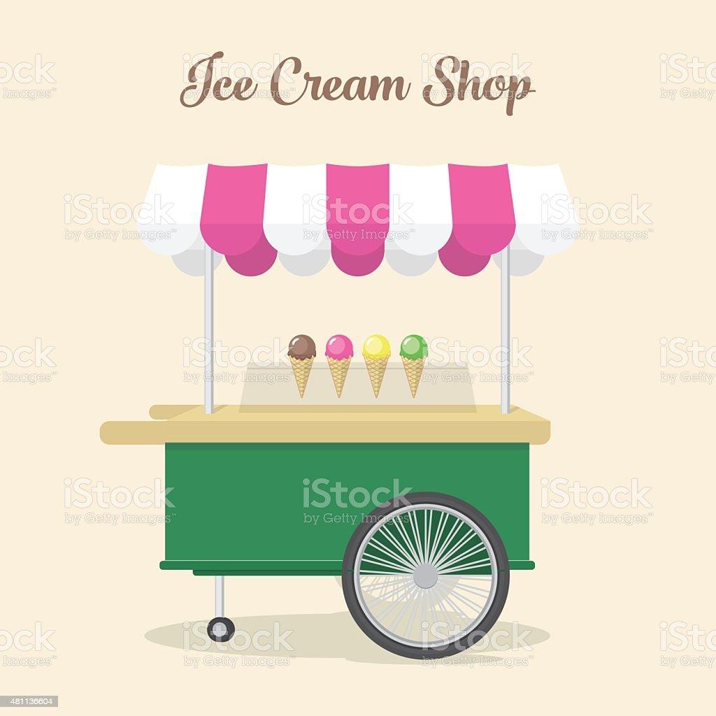 Ice Cream Shop Illustration vector art illustration