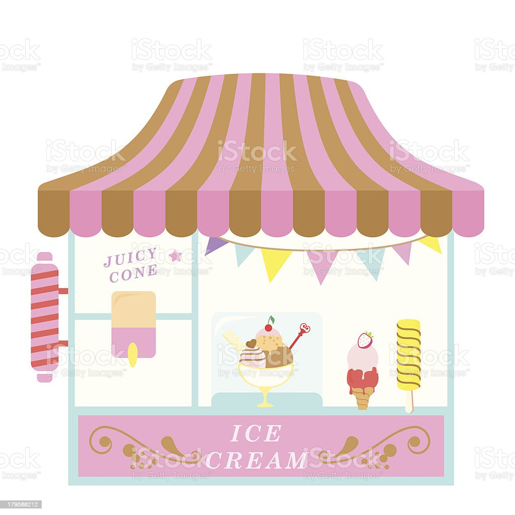 Ice Cream Shop vector art illustration