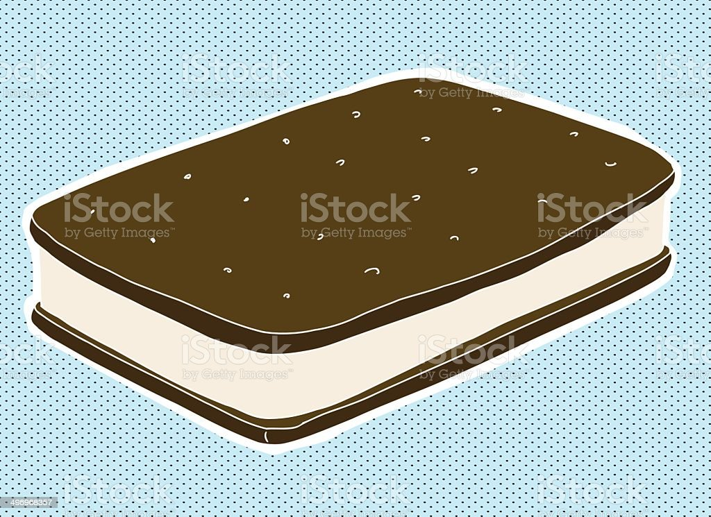 Ice Cream Snack vector art illustration
