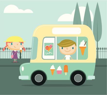 Ice Cream Truck Clip Art, Vector Images & Illustrations ...  Ice Cream Truck...