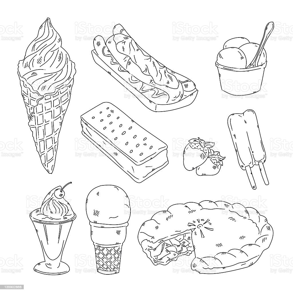 Ice cream royalty-free stock vector art