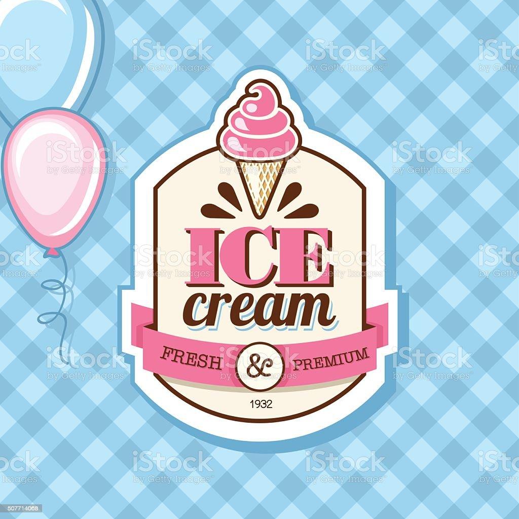 Ice Cream vector art illustration