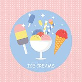 ice cream vector illustration. ice cream flat style design