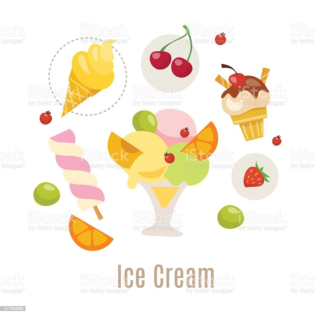 Ice cream vector infographic design. vector art illustration