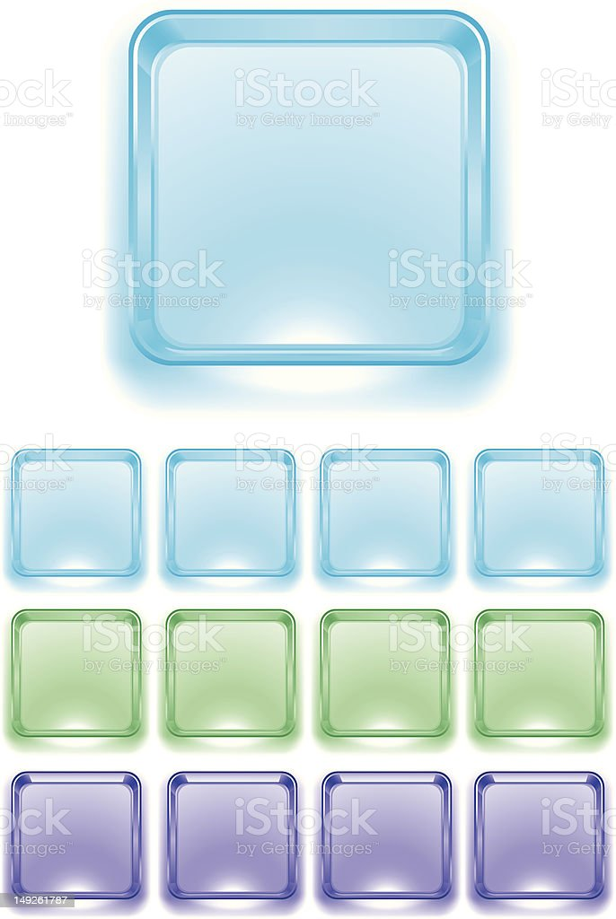 Ice Cube icon base royalty-free stock vector art
