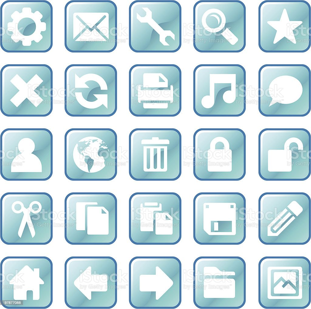Ice cube icons royalty-free stock vector art
