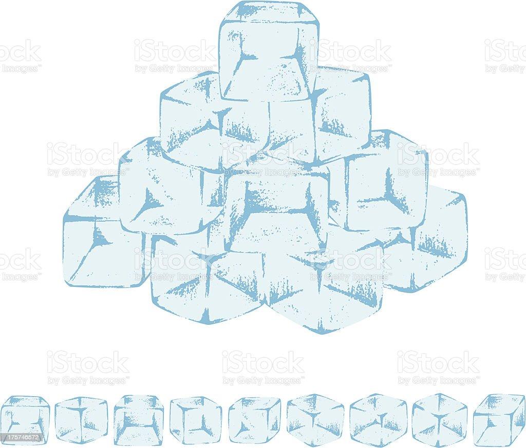Ice Cube royalty-free stock vector art