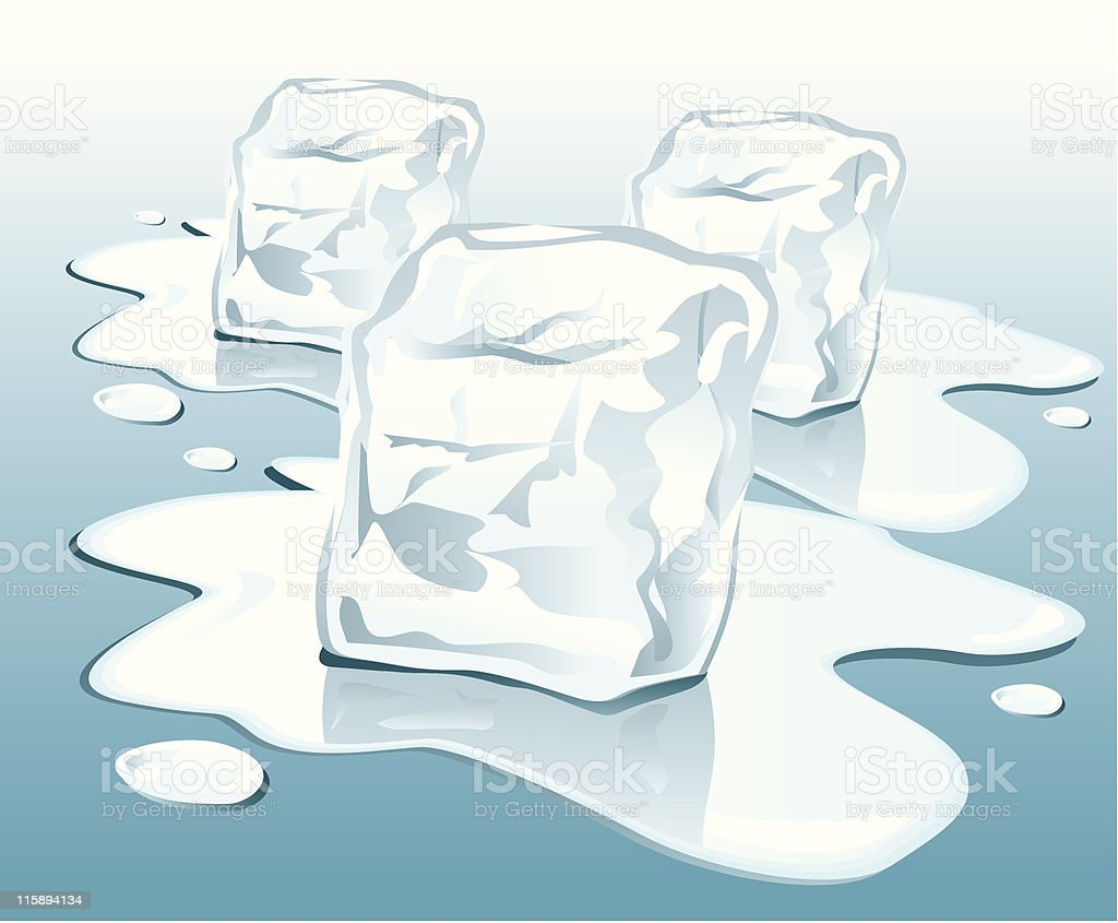 ice cubes royalty-free stock vector art