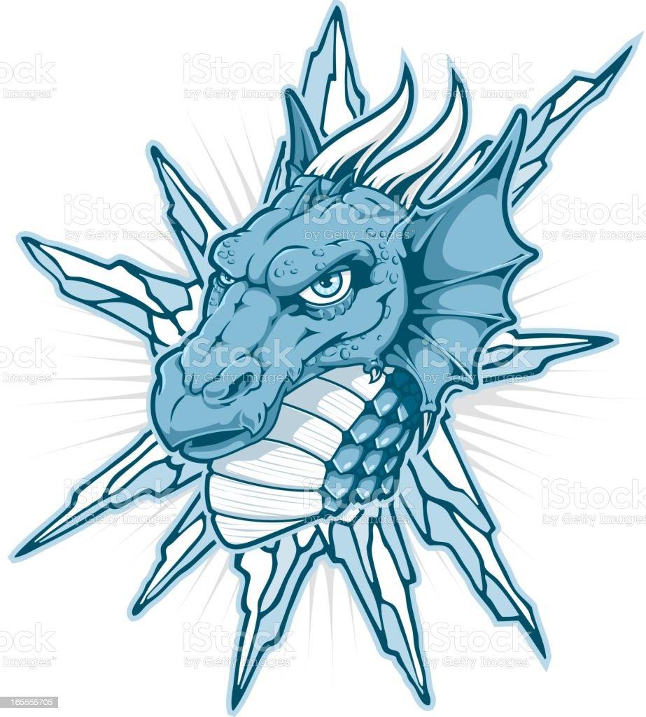 Ice Dragon royalty-free stock vector art