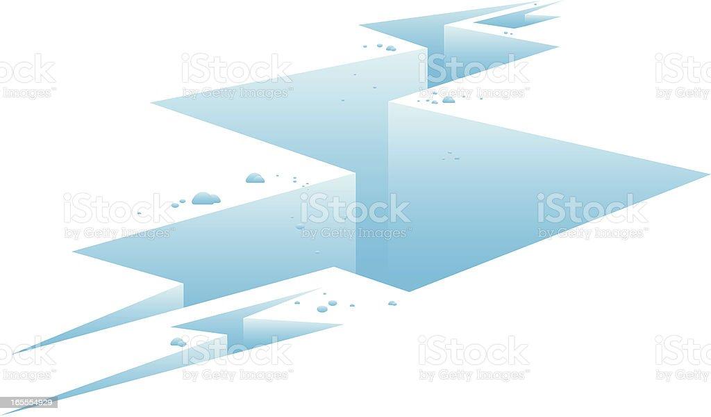 Ice Fracture vector art illustration