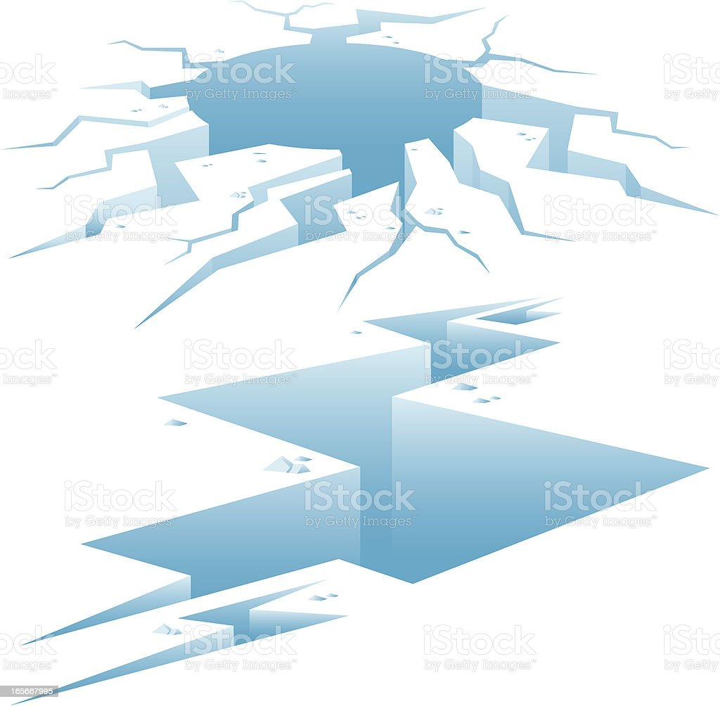 Ice Fractures vector art illustration