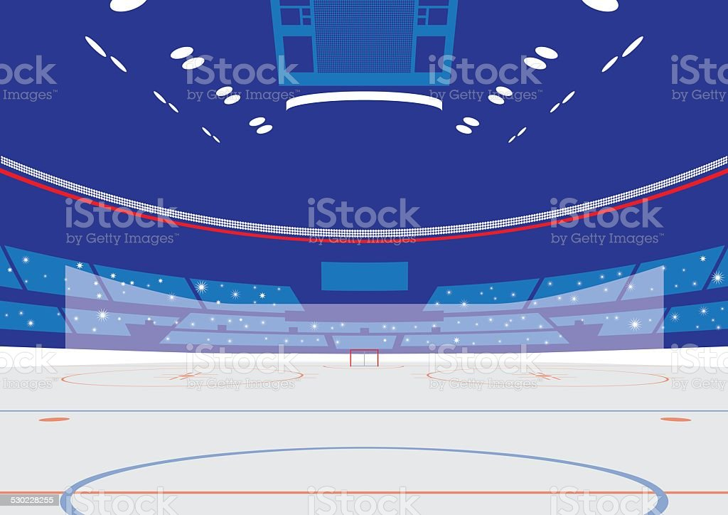 Ice Hockey Arena vector art illustration