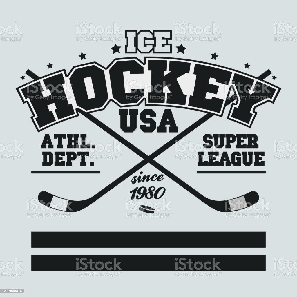 Ice Hockey Badge vector art illustration
