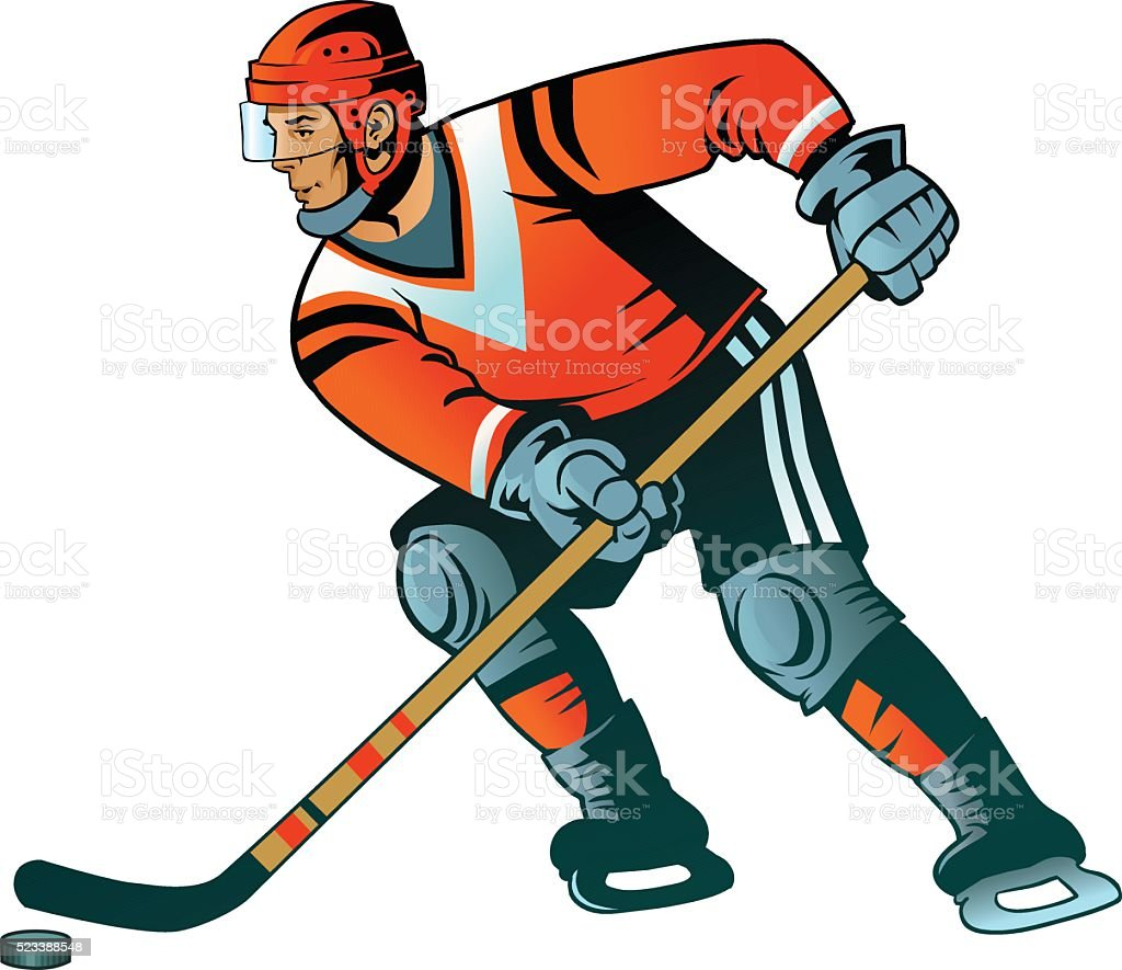 Ice Hockey Player - Isolated vector art illustration