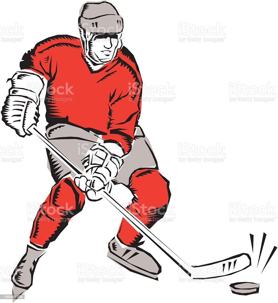 Ice Hockey Player royalty-free stock vector art