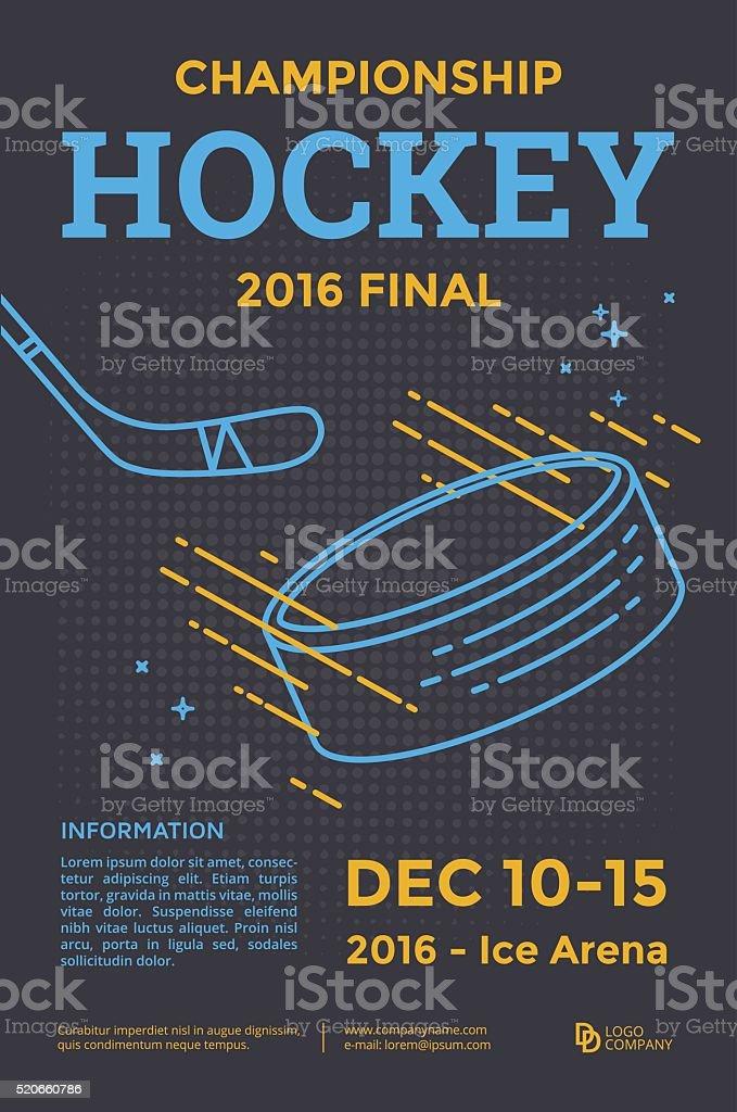 Ice hockey poster vector art illustration