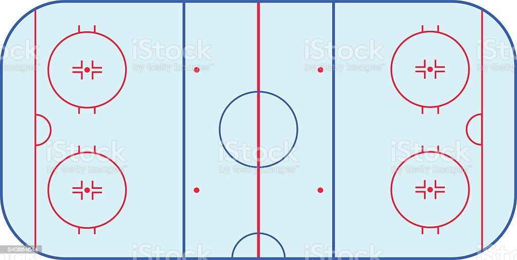 Ice hockey rink field playing infographics, flat, app vector art illustration