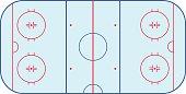 Ice hockey rink field playing infographics, flat, app