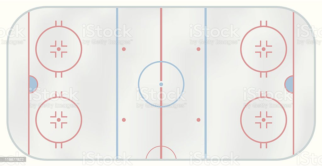 Ice hockey rink vector art illustration
