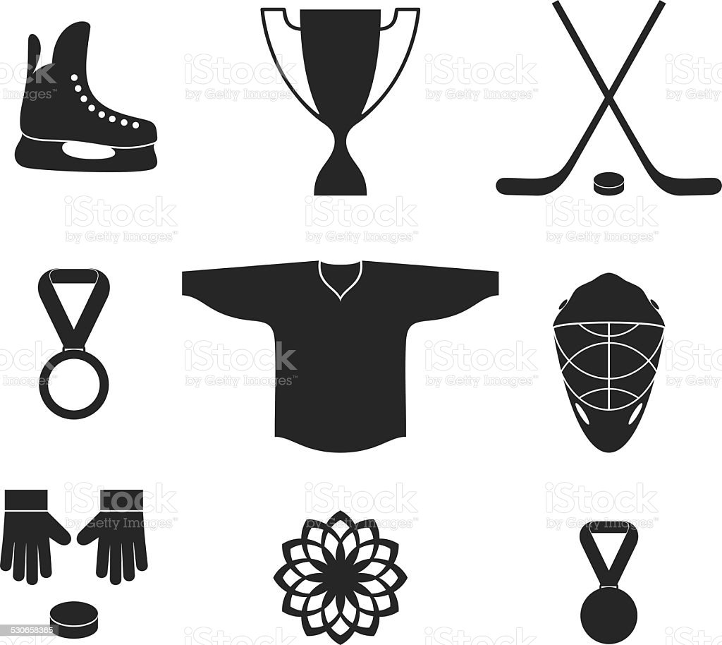 Ice Hockey vector art illustration