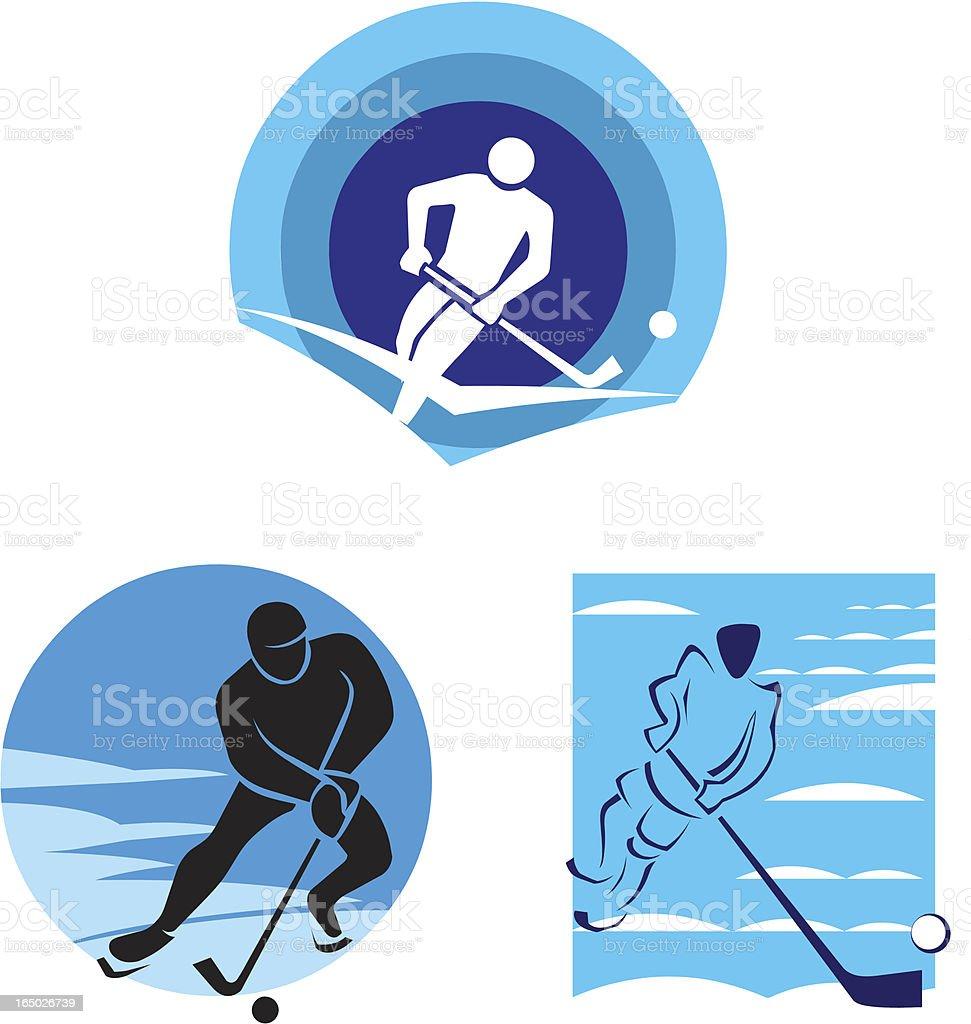 Ice Hockey - Vector Symbols royalty-free stock vector art