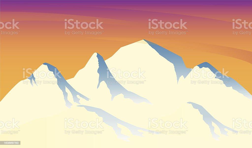 Ice Mountain Range royalty-free stock vector art