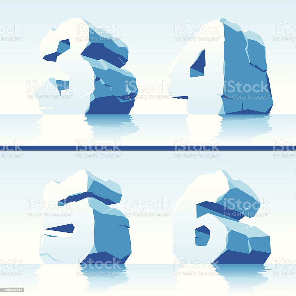 ice numbers Part 2 royalty-free stock vector art
