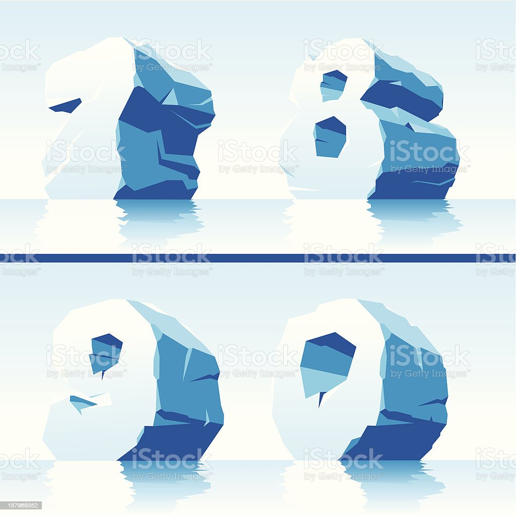 ice numbers Part 3 royalty-free stock vector art