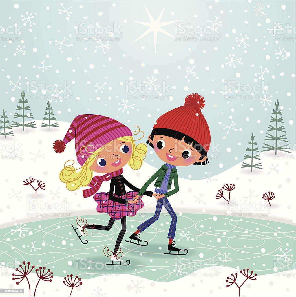 Ice Rink vector art illustration