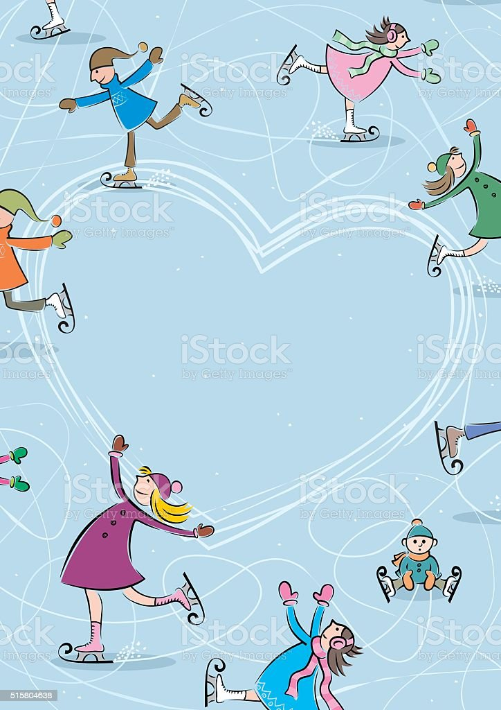 Ice Rink vector art illustration