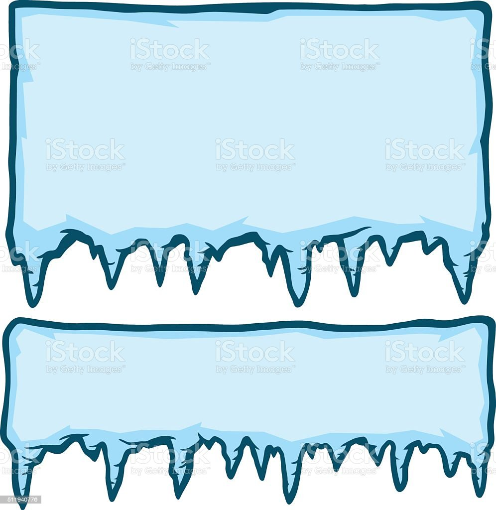 Ice Signs vector art illustration