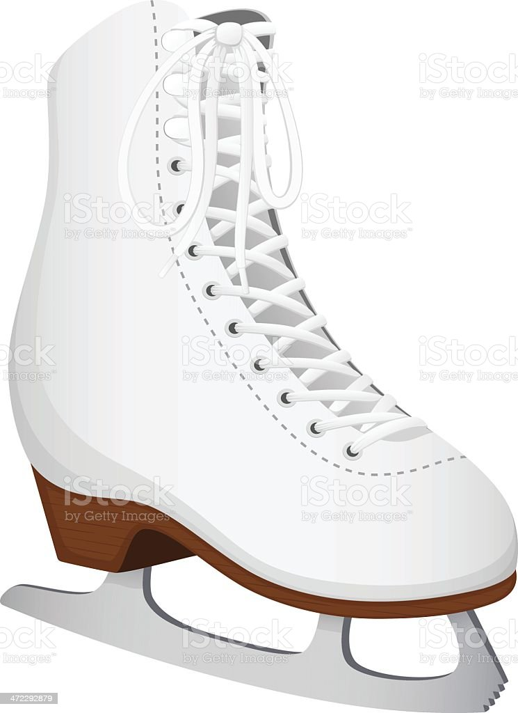 Ice Skate vector art illustration