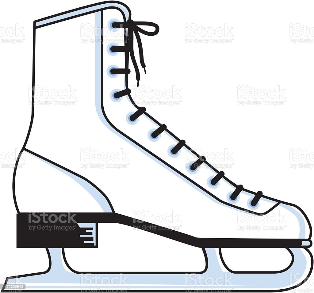 Ice Skate royalty-free stock vector art