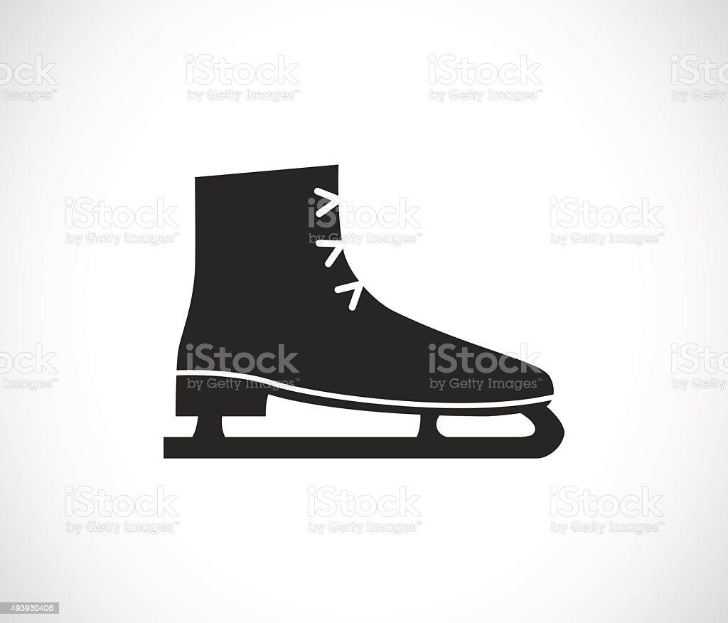ice skates icon vector art illustration