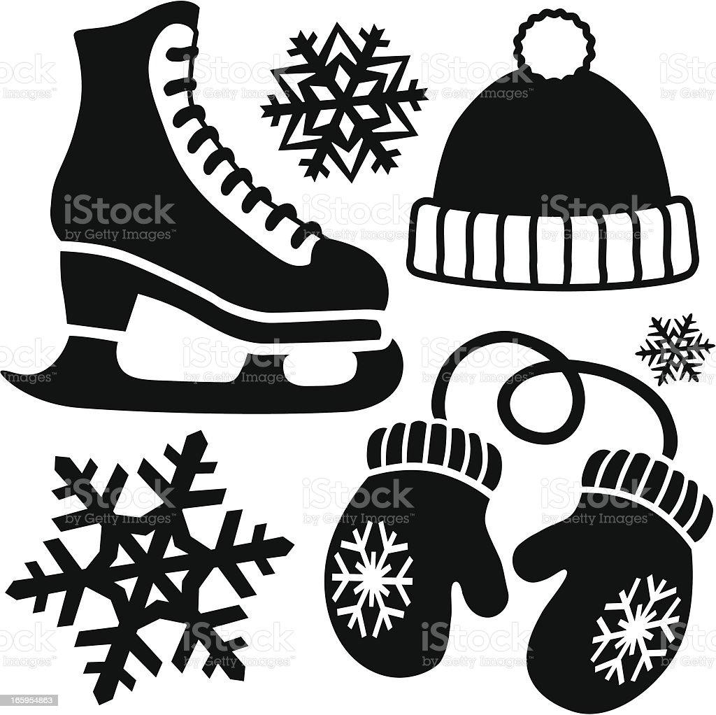 ice skating icons royalty-free stock vector art