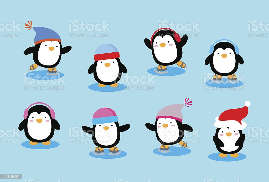 Imagem vetorial de varios animais, desfrutando de patinacao no ...