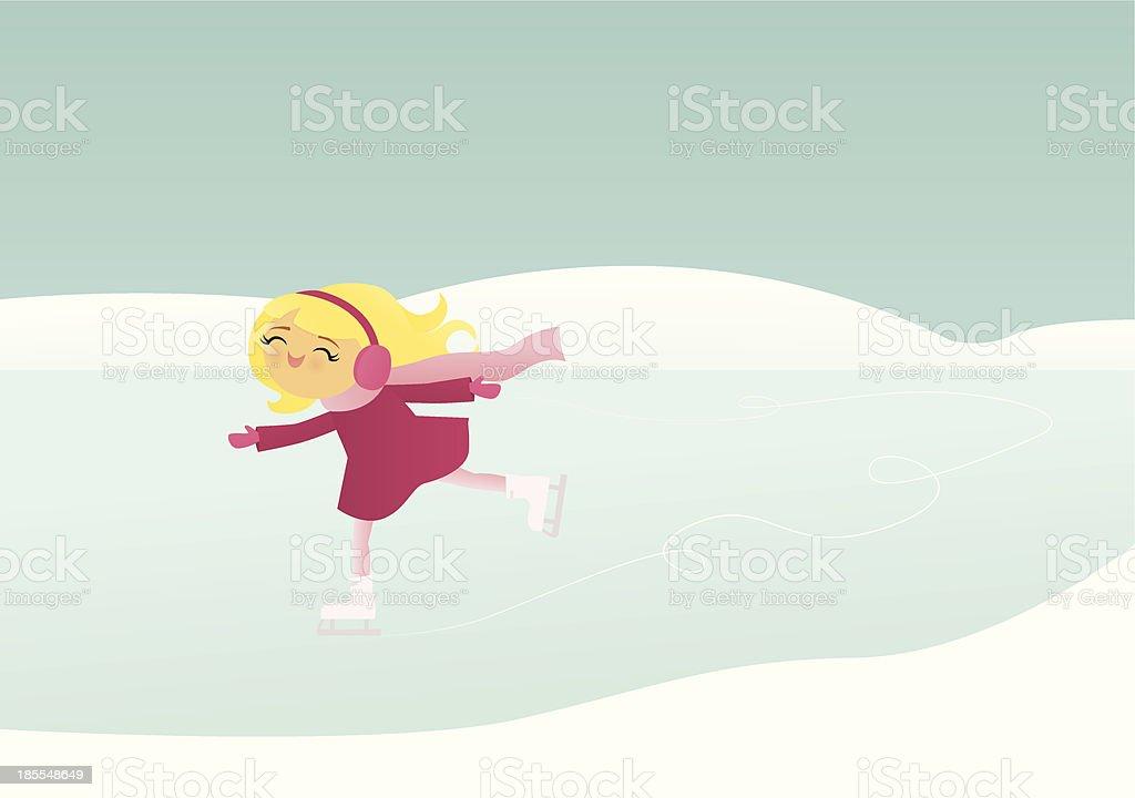 Ice Skating vector art illustration