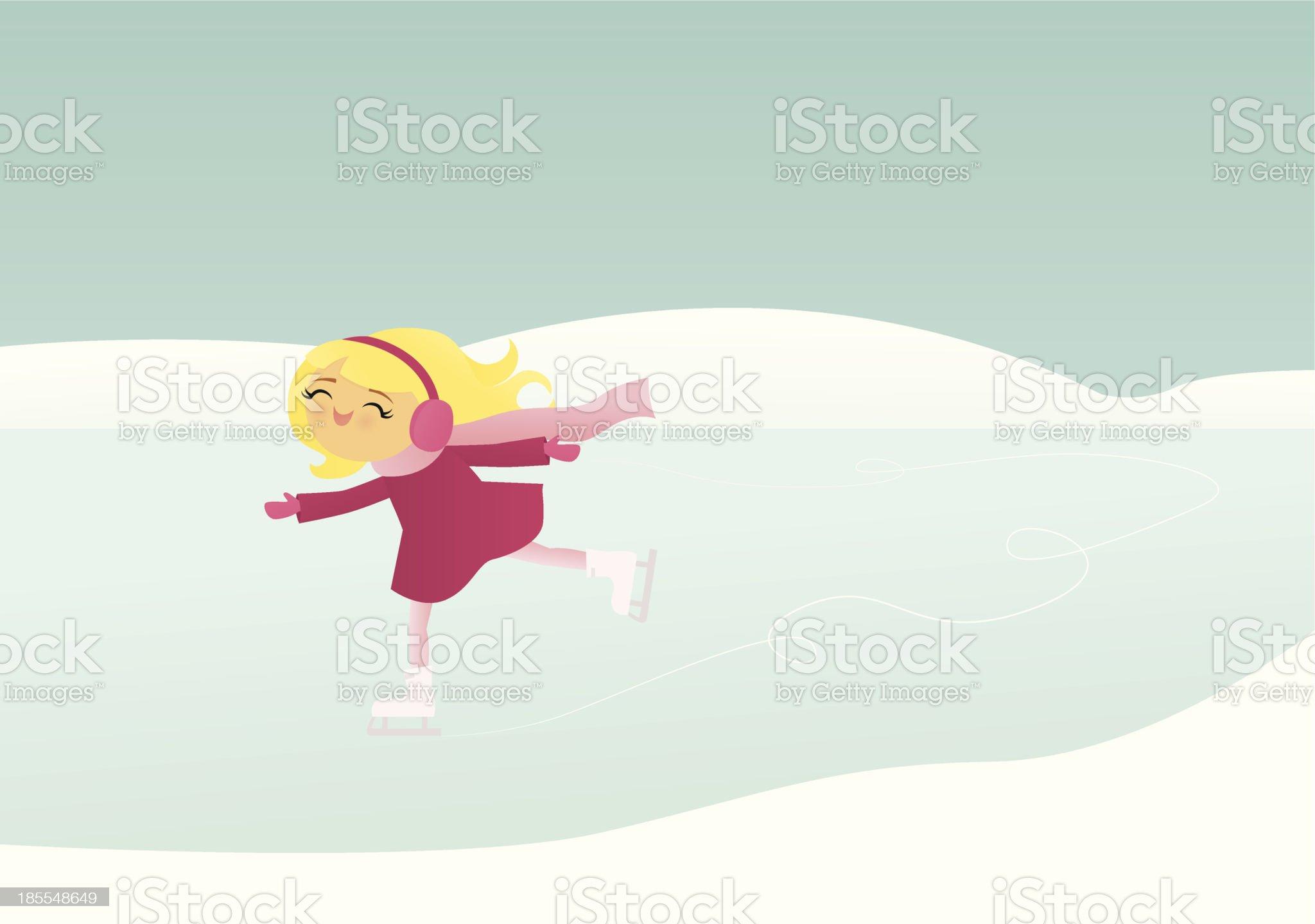 Ice Skating royalty-free stock vector art
