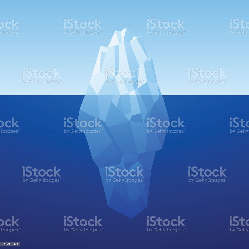 Iceberg Background In Low Poly Style. Vector vector art illustration