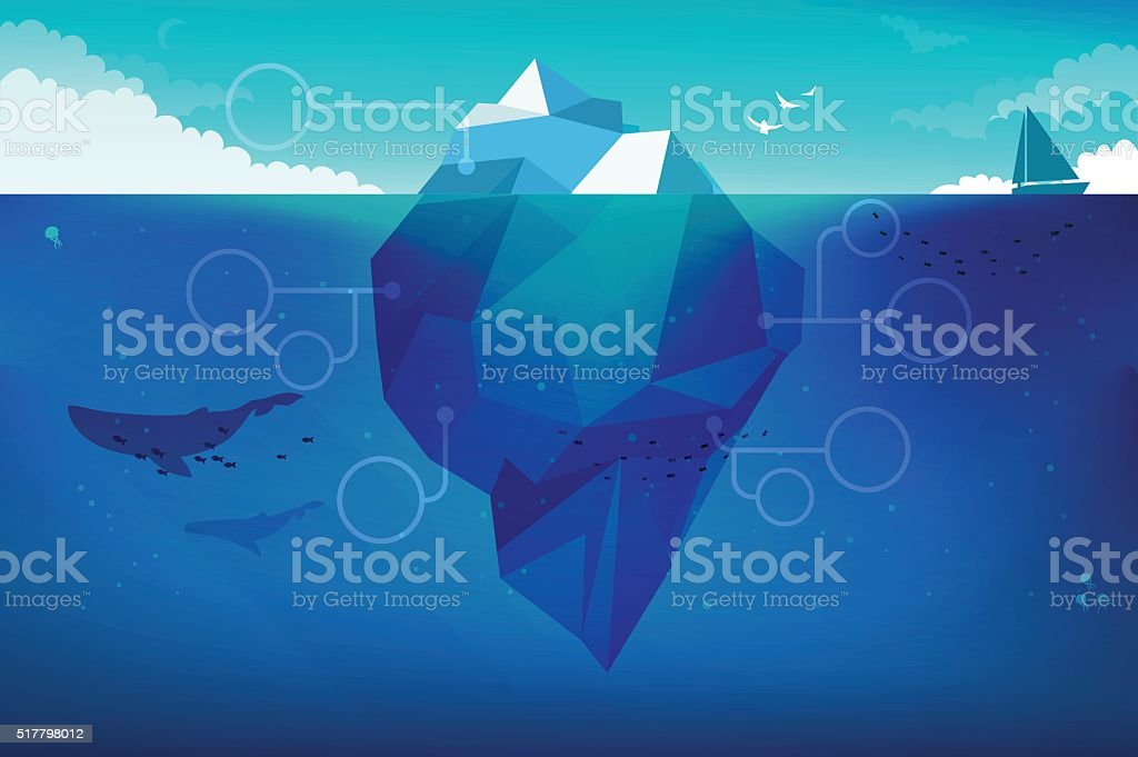 Iceberg Concept Illustration vector art illustration