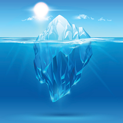 Iceberg ice formation clip art vector images for Clipart iceberg