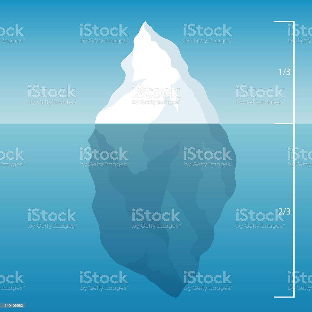 iceberg in the North Sea. illustration background vector art illustration