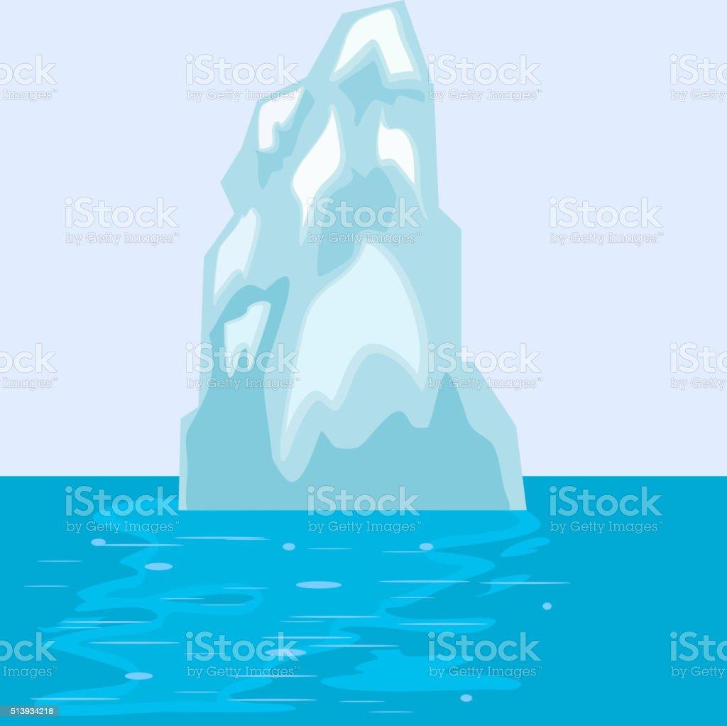 Iceberg in the sea. eps10 vector art illustration