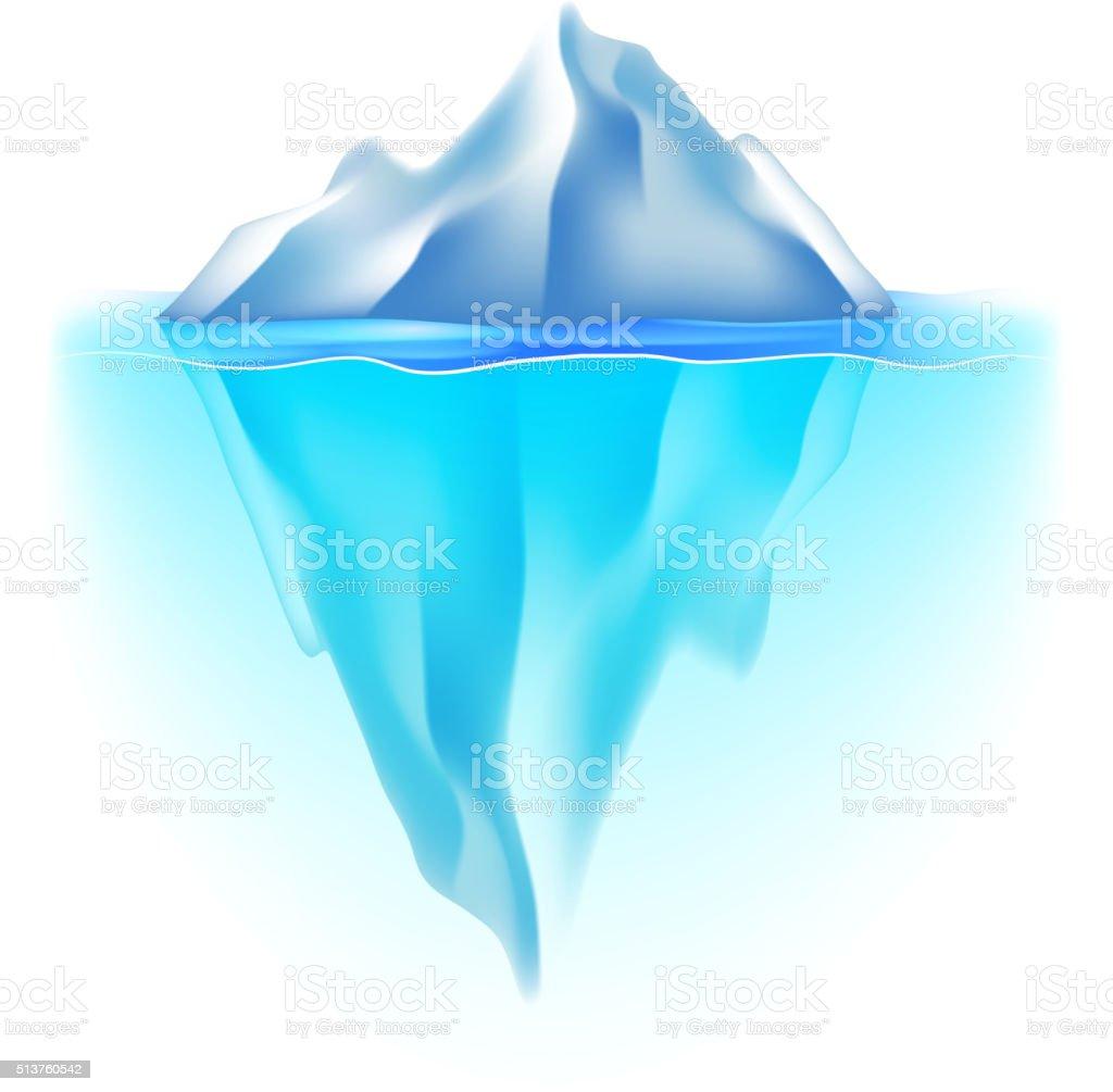 Iceberg isolated on white vector vector art illustration