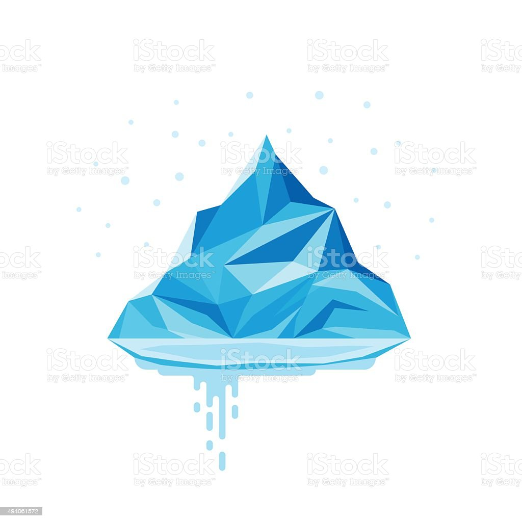 Iceberg Melt. vector art illustration
