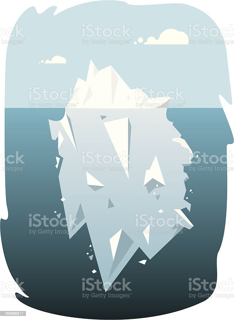 Iceberg over and under royalty-free stock vector art