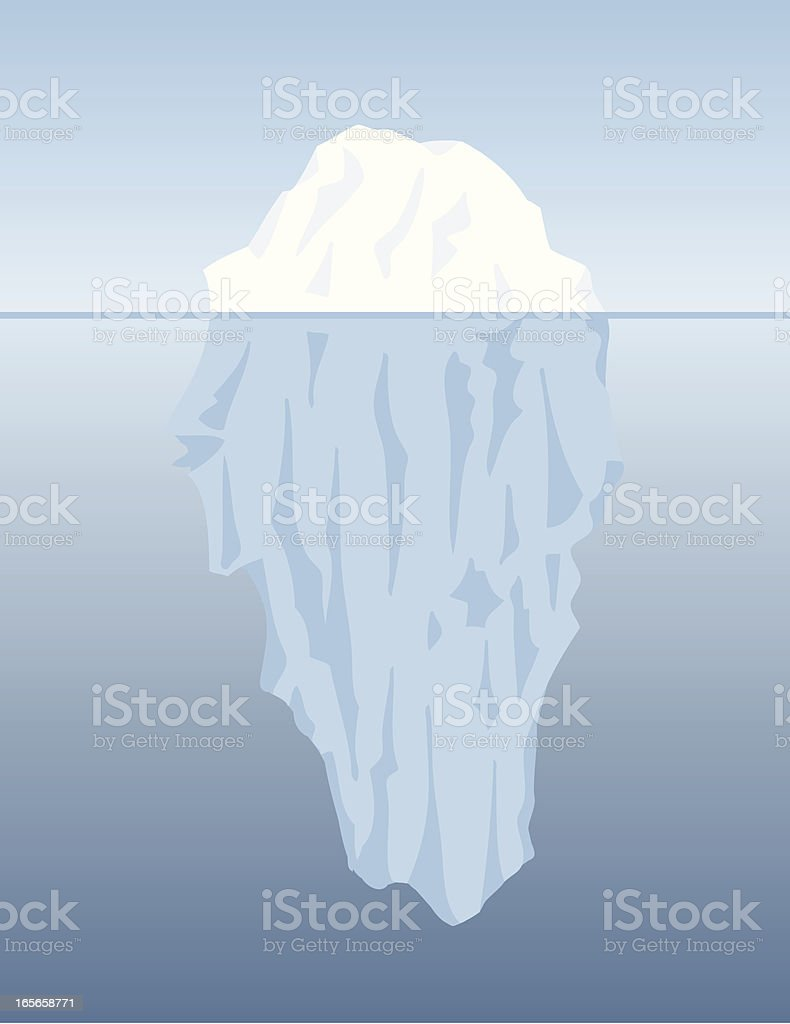 Iceberg Shapes vector art illustration