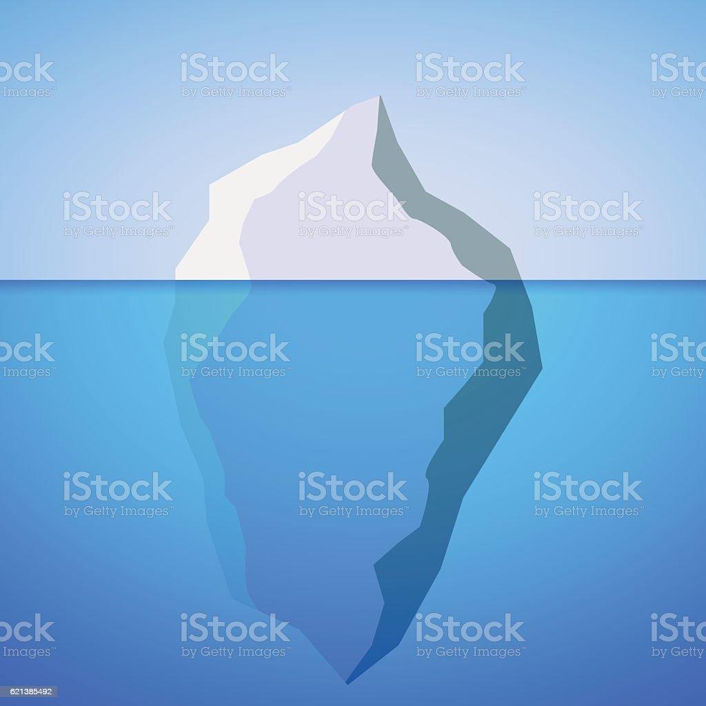 Iceberg sign. vector art illustration